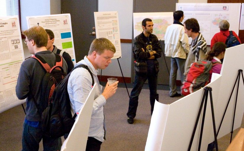 """Poster Session"" by David Eppstein licensed under CC BY 3.0. From Nick Byrd's ""Grad School, Part 1: The value of a PhD"""