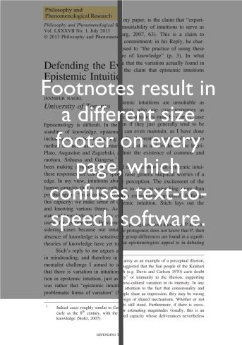 Figure 3: footnotes resulting in different size footer on each page