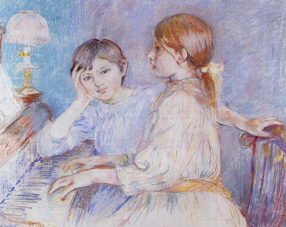 Julie Daydreaming By Berthe Morisot Byrons Muse