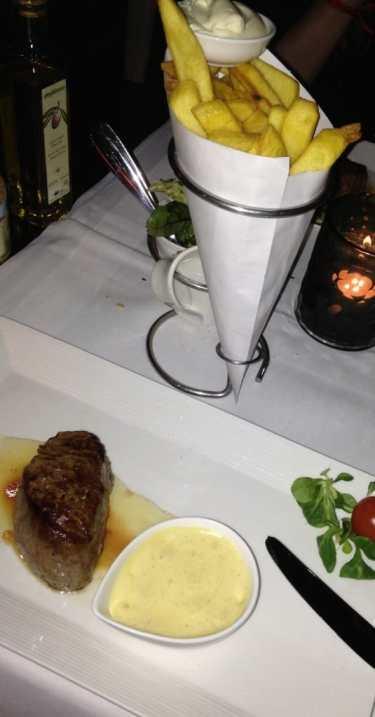 Kreeft en steak bij restaurant Red in Amsterdam