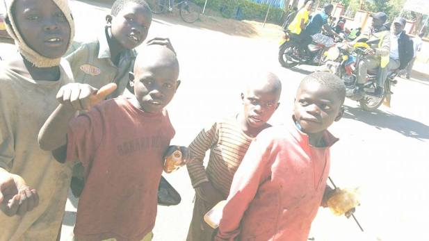 Some boys who live on the streets of Bungoma. God willing, we will locate Boniface in Eldoret.