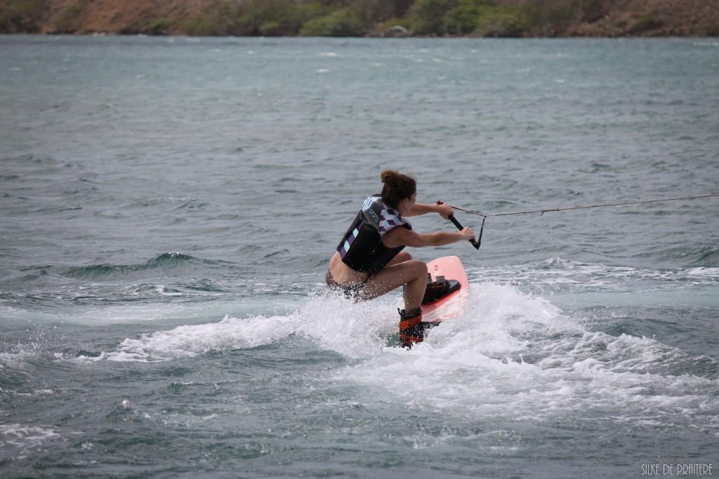 Curaçao 2016   |  Afsluiten in stijl: wakeboarden!