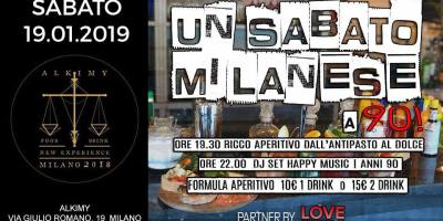 Sabato Alkimy Milano 19/01/2019