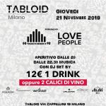 Giovedì Tabloid Milano Aperitivo con dj set