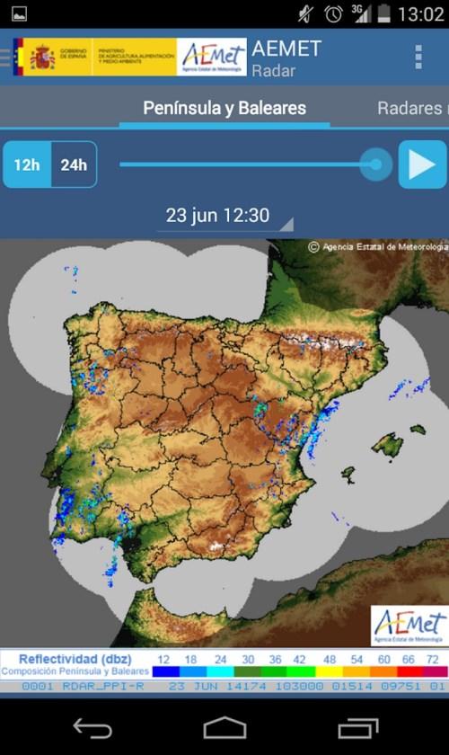 Aplicaciones de predicción meteorológica para Android