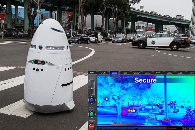 Knightscope K5, el robot policía que ya anda por California