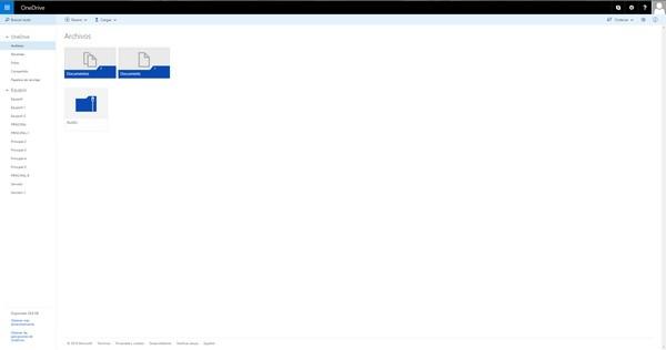Servicio de almacenamiento en la nube de OneDrive