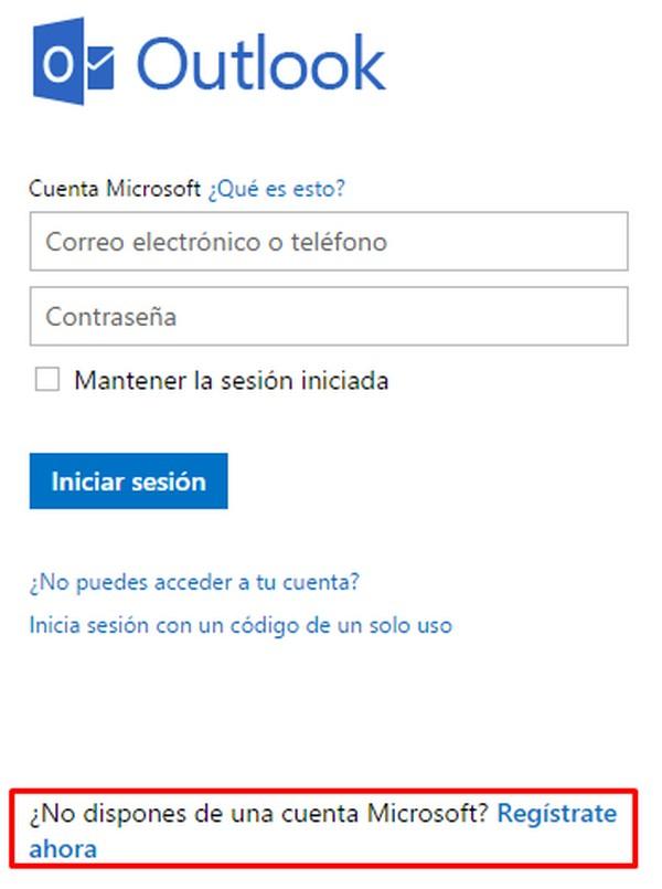 Cómo crear una cuenta de Hotmail d