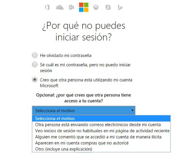 No puedo iniciar sesión en Hotmail f