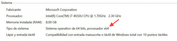 Arquitectura del PC desde Windows
