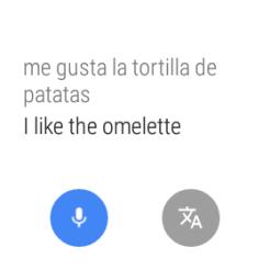 Con el traductor de Google podemos traducir de forma instantánea con nuestra voz. Perfecto si queremos decir que nos gusta la tortilla de patatas, por ejemplo.