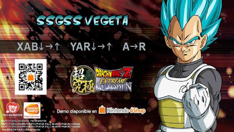 Código para desbloquear a Vegeta SSGSS como personaje de apoyo.