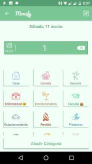 Podéis seleccionar de las categorías predeterminadas o personalizar las vuestras