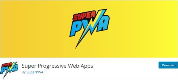 Super PWA WordPress plugin.