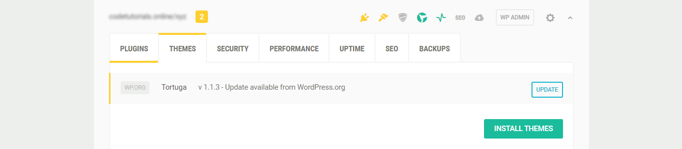 You can update themes from WordPress.org at the Hub