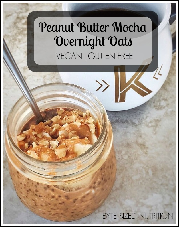 Peanut Butter Mocha Overnight Oats | Vegan & Gluten Free!