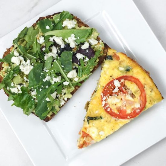 Spaghetti Squash Frittata and Avocado Toast | Weekly Bytes | www.bytesizednutrition.com