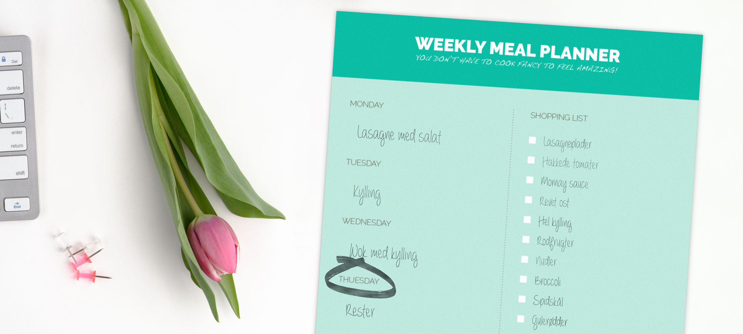 Gratis Weekly Meal Planner