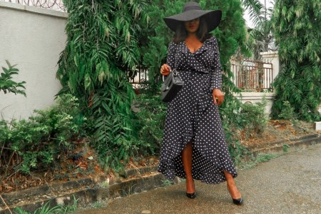how to style a wrap dress
