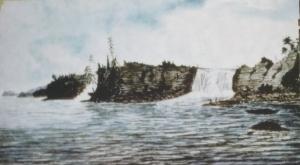 Falls of the Rideau River, at the Ottawa River, 1826, Thomas Burrowes, Archives publiques de l'Ontario, C 1-0-0-0-1