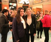 YoCo Member Serena with Honourable Mélanie Joly, Canadian Minister of Heritage on Parliament Hill for the Canadian Museum Association's Canadian Museums Day. Source: Canadian Museums Association, Mafoya Dossoumon Source: Association des musées canadiens, Mafoya Dossoumon