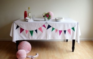 bunting table cloth