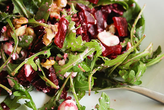 beetrood with goat cheese salad recipe