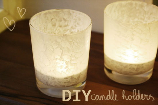 DIY - Painted glass candle holders