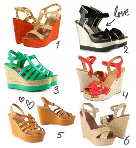 love this - wedges