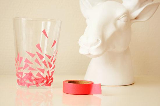 DIY - Washi tape drinking glasses