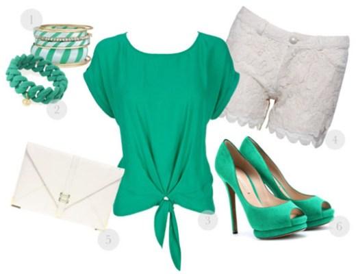 pretty in green fashion 2012
