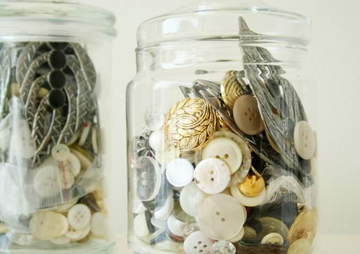 Latest thriftstore find - Buttons in jars