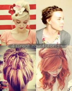 4 Great hair tutorials