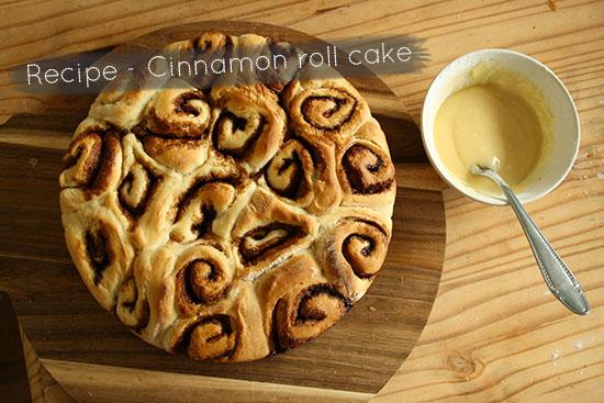 Recipe - Cinnamon roll cake