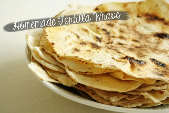 recipe - homemade tortilla wraps