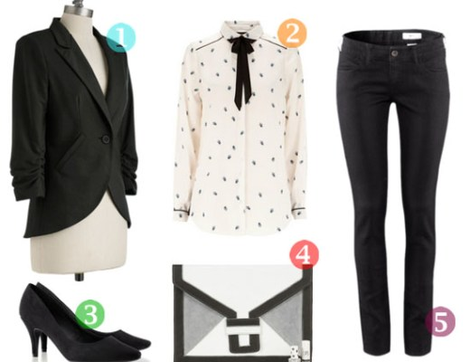 fashion - fall in black and white