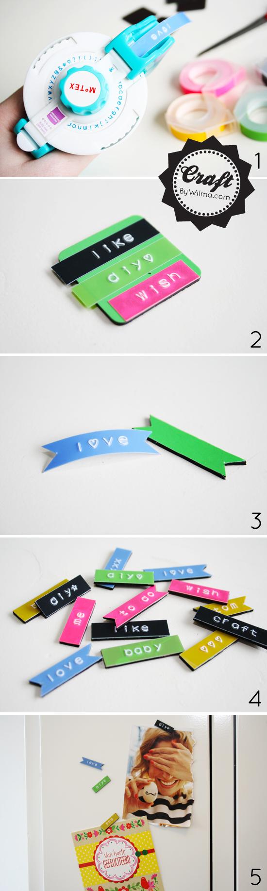DIY - Tapewriter magnets tutorial