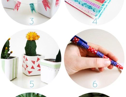 washi tape marathon round-up: 10 washi tape crafts!