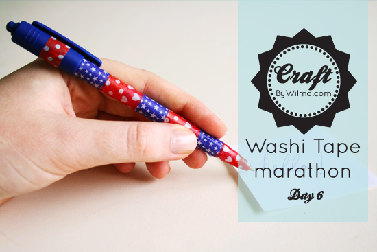 Day 6 of the 10 day washi tape marathon: a diy washi tape pen!