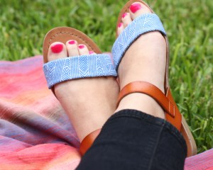 summer craft: upcycled shoes