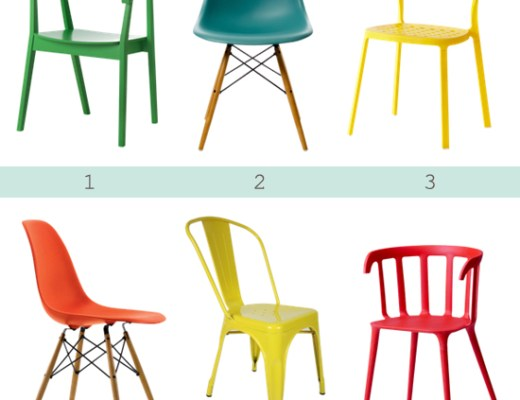 Love this - Colorful dining chairs