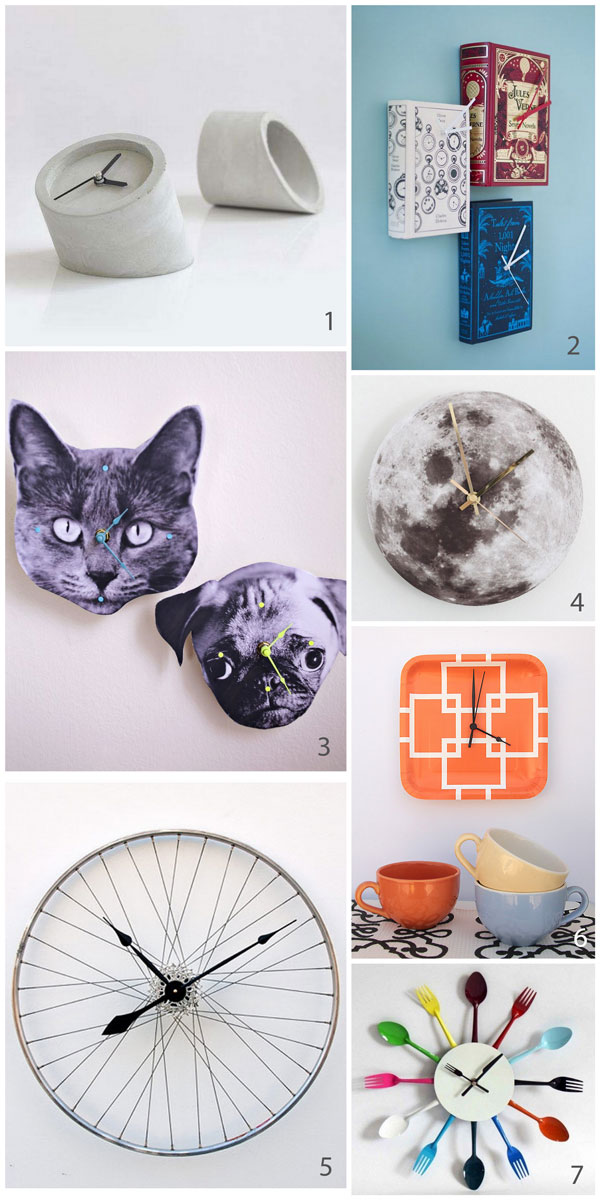 7 Ways to DIY a clock