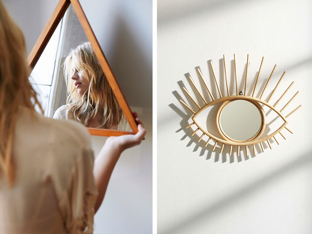special shaped modern bohemian mirrors