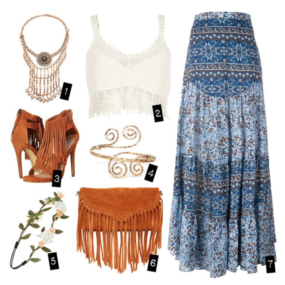 a bohemian summer outfit
