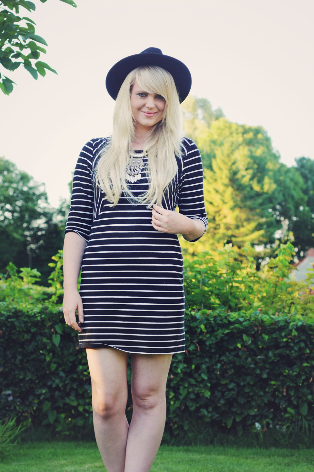 What I wore - All stripes