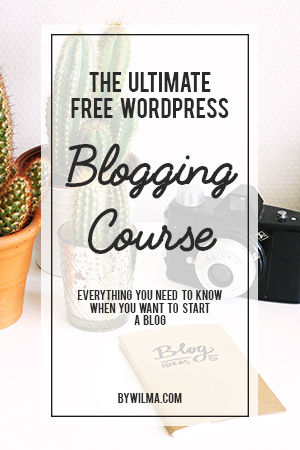 The Ultimate Free Wordpress Blogging Course - Everything you need to know when you want to start a Wordpress blog. From installing Wordpress to creating a logo, making content, promoting your blog and earning money with your blog. You will find everything in this course.