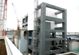 Completion of the Steel Frame Construction for the Cover to be Installed for Fuel Removal at Unit 4 at Fukushima Daiichi Nuclear Power Station | TEPCO