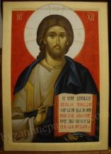 Iisus Hristos Pantocrator icoana pictata pe lemn