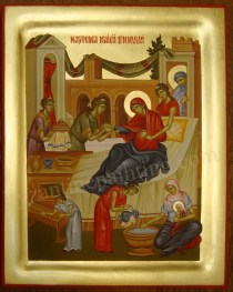 the Birth of the Virgin Mary, byzantine icons for sale