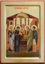 Icoana pictata - Intampinarea Domnului.The Presentation of Christ in the Temple
